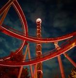 Νύχτα στο funfair στοκ φωτογραφίες με δικαίωμα ελεύθερης χρήσης