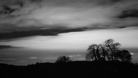 νύχτα σύννεφων στοκ εικόνα με δικαίωμα ελεύθερης χρήσης