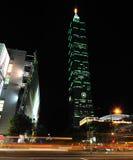 νύχτα Ταιπέι οικοδόμησης 101 στοκ φωτογραφία
