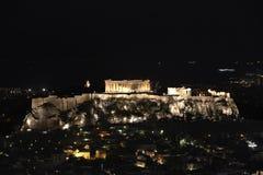 νύχτα της Αθήνας ακρόπολη Στοκ Φωτογραφία