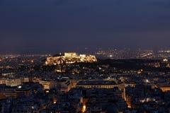 νύχτα της Αθήνας ακρόπολη Στοκ φωτογραφίες με δικαίωμα ελεύθερης χρήσης