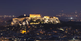 νύχτα της Αθήνας Στοκ φωτογραφία με δικαίωμα ελεύθερης χρήσης