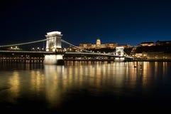 νύχτα της Βουδαπέστης Στοκ εικόνες με δικαίωμα ελεύθερης χρήσης