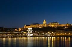 νύχτα της Βουδαπέστης Στοκ εικόνα με δικαίωμα ελεύθερης χρήσης