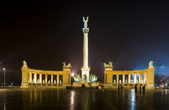 νύχτα της Βουδαπέστης Στοκ Εικόνες