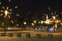 νύχτα της Βουδαπέστης Στοκ Φωτογραφία