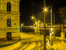 νύχτα της Βουδαπέστης Στοκ φωτογραφία με δικαίωμα ελεύθερης χρήσης