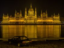 νύχτα της Βουδαπέστης Στοκ Εικόνα