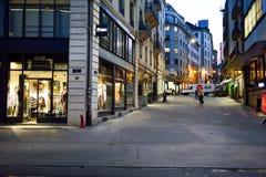 νύχτα της Γενεύης Στοκ φωτογραφίες με δικαίωμα ελεύθερης χρήσης