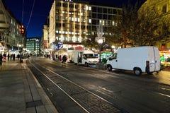 νύχτα της Γενεύης Στοκ Φωτογραφίες