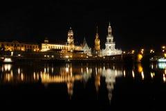 νύχτα της Δρέσδης Στοκ εικόνα με δικαίωμα ελεύθερης χρήσης