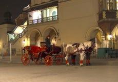 νύχτα της Κρακοβίας στοκ φωτογραφία