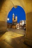 νύχτα της Κρακοβίας Στοκ εικόνα με δικαίωμα ελεύθερης χρήσης
