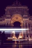 Νύχτα της Λισσαβώνας Στοκ φωτογραφία με δικαίωμα ελεύθερης χρήσης
