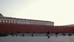 Νύχτα της Μόσχας Κρεμλίνο πανοράματος, Ρωσία απόθεμα βίντεο