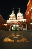 νύχτα της Μόσχας Στοκ Φωτογραφίες