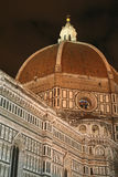 νύχτα της Φλωρεντίας Ιταλία duomo Στοκ εικόνα με δικαίωμα ελεύθερης χρήσης