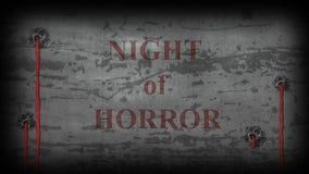 Νύχτα της φρίκης - βίντεο screensaver ελεύθερη απεικόνιση δικαιώματος