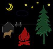 νύχτα τοπίων Ελεύθερη απεικόνιση δικαιώματος