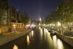 νύχτα του Άμστερνταμ Στοκ Φωτογραφίες