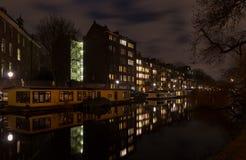 νύχτα του Άμστερνταμ Στοκ εικόνες με δικαίωμα ελεύθερης χρήσης