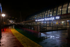 νύχτα του Άμστερνταμ Στοκ φωτογραφία με δικαίωμα ελεύθερης χρήσης