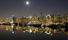 Νύχτα του Βανκούβερ, Καναδάς Στοκ Φωτογραφία