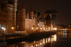 νύχτα του Γντανσκ Στοκ εικόνες με δικαίωμα ελεύθερης χρήσης