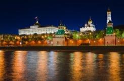 νύχτα του Κρεμλίνου Μόσχα Στοκ Εικόνα