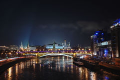 νύχτα του Κρεμλίνου Μόσχα Στοκ εικόνα με δικαίωμα ελεύθερης χρήσης