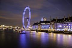 νύχτα του Λονδίνου ματιών Στοκ εικόνα με δικαίωμα ελεύθερης χρήσης