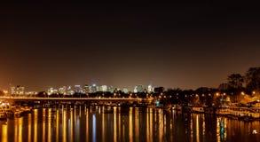 Νύχτα του Παρισιού στοκ φωτογραφία