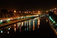 νύχτα του Πεκίνου Στοκ Φωτογραφία