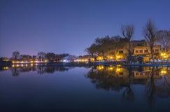 Νύχτα του Πεκίνου Houhai στοκ εικόνες