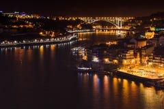 Νύχτα του Πόρτο στοκ φωτογραφία με δικαίωμα ελεύθερης χρήσης