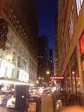 νύχτα του Σικάγου Στοκ εικόνες με δικαίωμα ελεύθερης χρήσης