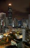 νύχτα του Χογκ Κογκ στοκ εικόνες