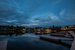 Νύχτα του Χούντσβιλ Στοκ Φωτογραφία