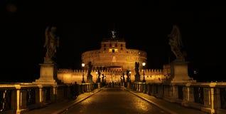 νύχτα του Angelo castel sant Στοκ φωτογραφίες με δικαίωμα ελεύθερης χρήσης