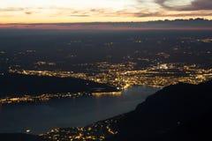 νύχτα του Annecy Στοκ Εικόνα