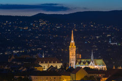 νύχτα του Matthias εκκλησιών Στοκ Εικόνες