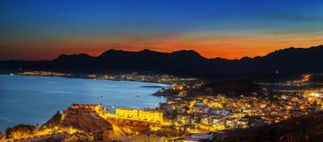 Νύχτα του San Juan scape Στοκ εικόνα με δικαίωμα ελεύθερης χρήσης