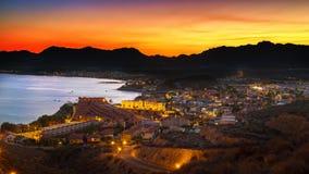 Νύχτα του San Juan scape Στοκ φωτογραφίες με δικαίωμα ελεύθερης χρήσης