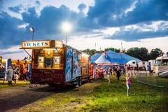 Νύχτα τσίρκων Στοκ φωτογραφίες με δικαίωμα ελεύθερης χρήσης
