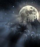 Νύχτα των κοράκων Στοκ εικόνα με δικαίωμα ελεύθερης χρήσης