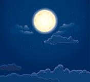 νύχτα φεγγαριών Στοκ φωτογραφία με δικαίωμα ελεύθερης χρήσης