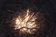 Νύχτα φωτιών Στοκ Εικόνα