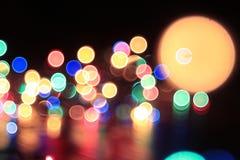 Νύχτα φω'των πόλεων Boken Στοκ φωτογραφία με δικαίωμα ελεύθερης χρήσης
