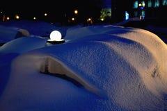 Νύχτα χιονιού Στοκ Φωτογραφίες
