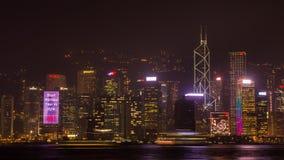 Νύχτα Χονγκ Κονγκ. Πυροβολισμός από Kowloon. Στοκ εικόνα με δικαίωμα ελεύθερης χρήσης